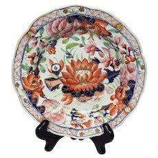Stunning Antique Mason's Patn'd Ironstone Water Lily Salad Plate