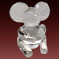 Impressive Steuben Crystal Koala Figurine #8268