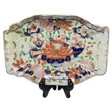 Rare Antique Mason's Patn'd Ironstone Water Lily Dessert Tray
