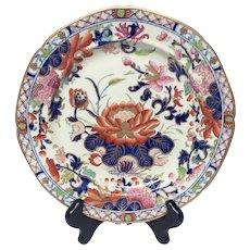 Stunning Antique Mason's Patn'd Ironstone Water Lily Dinner Plate