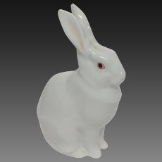 Herend Standing White Rabbit Figure 5327