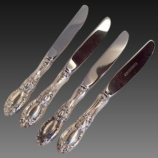 Set (4) Towle King Richard Modern Hollow Handled Butter Spreaders