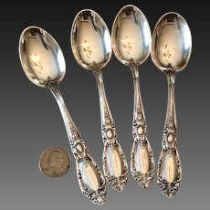 Set (4) Towle King Richard Sterling Teaspoons