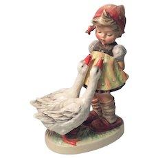 "Adorable Large Hummel ""Goose Girl"" Figurine TMK 3"