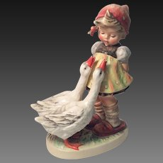 "Adorable Large Hummel ""Goose Girl"" Figurine TMK 3"