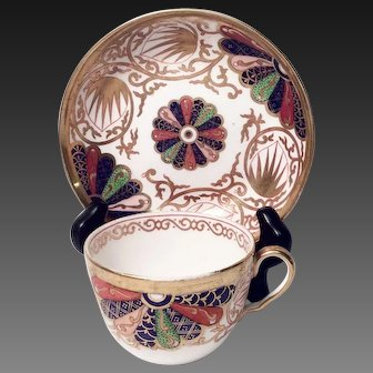 Antique Copeland China Pattern 1201 Imari Fan Cup \u0026 Saucer Set & Grandview Fine Tableware : Antique and Vintage China Silver ...