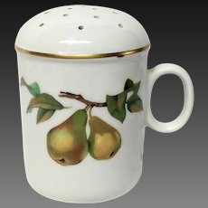 Royal Worcester Evesham Gold Powdered Sugar Shaker