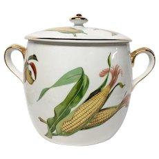 Stunning Royal Worcester Evesham Gold Bean Pot, England