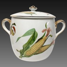 Stunning Royal Worcester Evesham Gold Bean Pot, England