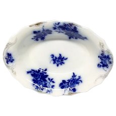 GIRONDE Flow Blue  Oval Vegetable Bowl by W.H.Grindley & Co.
