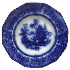 """John Meir """"Chen-Si"""" Flow Blue Large Soup Plate"""