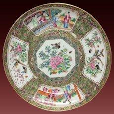 Stunning Early 19th Century Rose Medallion Dinner Plate