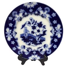 Lovely Royal Staffordshire Pekin Flow Blue Dinner Plate