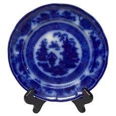 Antique Podmore & Walker Temple Flow Blue Plate