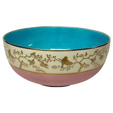 Superb Antique Minton Aesthetic Fruit Bowl For Shreve Crump Low