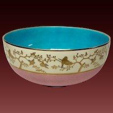 Superb Antique Minton Aesthetic Fruit Bowl For Shreve Crump Low