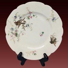 Antique Haviland Bird And Flowers Dinner Plate