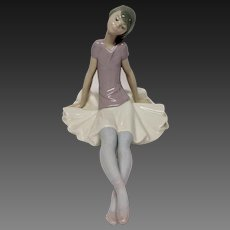 "Lladro""Sitting Dreamer"" #1365 Ballerina Phyllis"