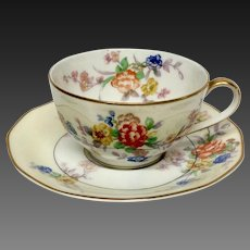 "Theodore Haviland France ""Jewel Cup & Saucer"