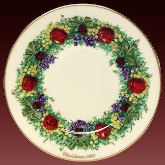 Lenox Colonial Christmas Series Maryland Plate 1983