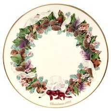 Lenox Colonial Christmas Series North Carolina Plate 1992