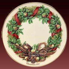 Lenox Colonial Christmas Series Pennsylvania Plate 1987