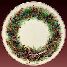 Lenox Colonial Christmas Series New Hampshire Plate 1986