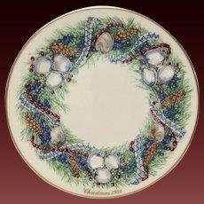 Lenox Colonial Christmas Series Rhode Island Plate 1984