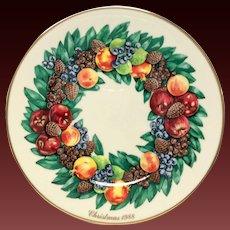 Lenox Colonial Christmas Series Maryland Plate 1988