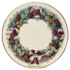 Lenox Colonial Christmas Series Massachusetts  Plate 1982