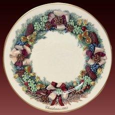 Lenox Colonial Christmas Series Massachusetts  Plate 1982