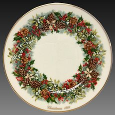 Lenox Colonial Christmas Series Virginia Plate 1981