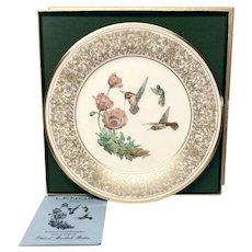 Lenox Boehm Bird Collector Series Rufous Humming Bird Plate