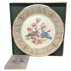 Lenox Boehm Bird Collector Series a Mountain Bluebird Plate