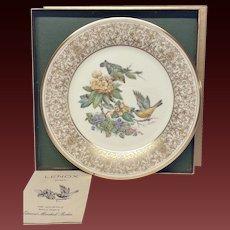 Lenox Boehm Bird Collector Series Goldfinch Plate
