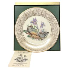 Lenox Boehm Bird Collector Series Golden-Crowned Kinglet Plate