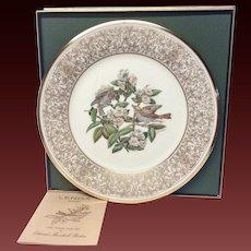 Lenox Boehm Bird Collector Series Wood Thrush Plate