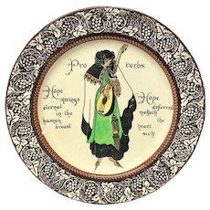 Royal Doulton Proverbs Series Ware, Hope Springs Eternal Plate