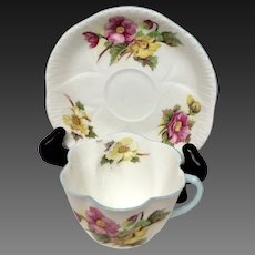 Shelley Begonia Cup & Saucer 13427 Dainty Shape