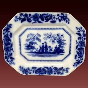 Mid Nineteenth Century Mandarin Flow Blue Platter by Maddock