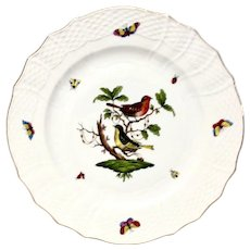 """Herend Rothschild Bird 11"""" Service  Plate or Charger RO-3"""
