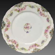Rare Theodore Haviland China Pattern Schleiger 1066-1 Dinner Plate