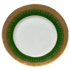 Charles Field Haviland Green & Gold Encrusted Salad Plate