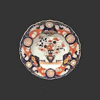 """Antique Mason's Patn'd Ironstone """"Vase Fence and Doves""""Soup Plate"""