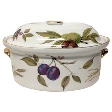 Royal Worcester Evesham Gold Large Oval Covered Casserole