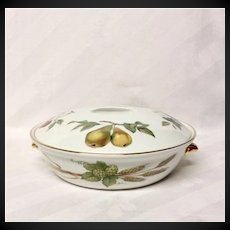 Royal Worcester Evesham Gold Flame Proof Round Covered Casserole