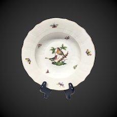 Herend Rothschild Bird Rim Soup Bowl RO-8