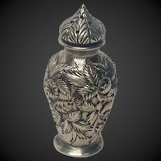 Vintage Kirk Sterling Hand Chased Repousse Salt Shaker 925/1000 Mark