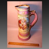 Imperial Crown Austrian Large China Pink Tankard