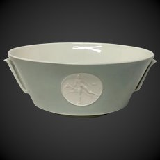 Royal Berlin, KPM Gray Rim Arkadia Handled Salad Bowl